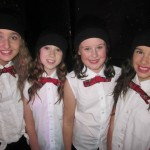 Kodie McEneaney, Caitlin McNally, Hannah Culligan and Jade McFaul taking part in 'Jingle All The Way'