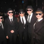 Some of the Blues Brothers taking part in 'Jingle All The Way'