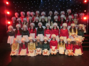 Some of the Dance Kids taking part in 'Jingle All The Way'
