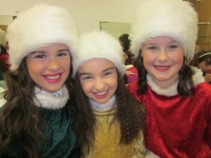 Jade McFaul, Kayla Minto and Hannah Culligan enjoying  'Jingle All The Way'
