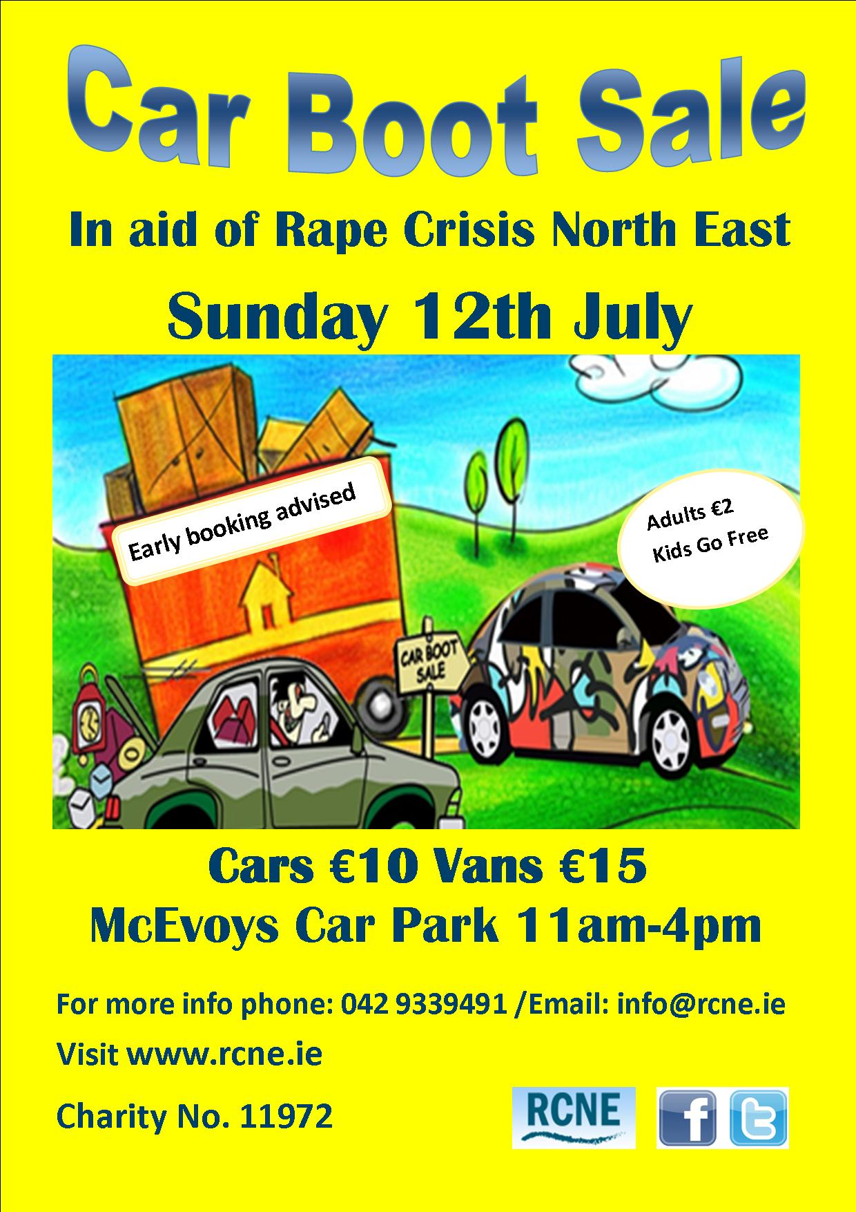 Car Boot Sale Rcne Sun 12th July Dundalkonline