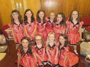 Some of the Tiny Tots taking part in 'Let's Dance'